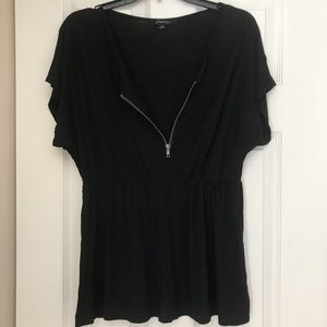 Forever 21, Zip-up Black Top, size Small